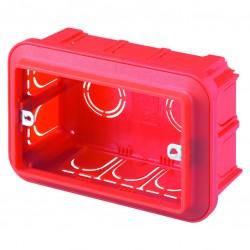 Caja RECTANGULAR de empotrar en pared para chasis de 1 a 3 modulos