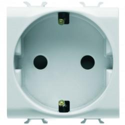 Enchufe base schuko modelo Chorus color blanco 2 modulos