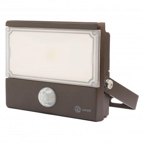 Proyector LED Exterior 10W 12/24V CC con detector GALAXXI+PIR XUNZEL