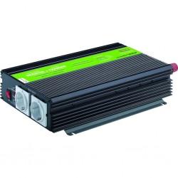 Inversor-cargador de onda modificada 1200W 12V 10A MJC XUNZEL con cables