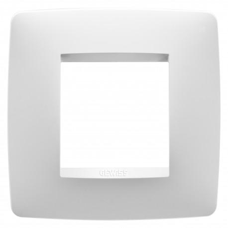 Placa modelo Chorus ONE 2 modulos color blanco caja cuadrada
