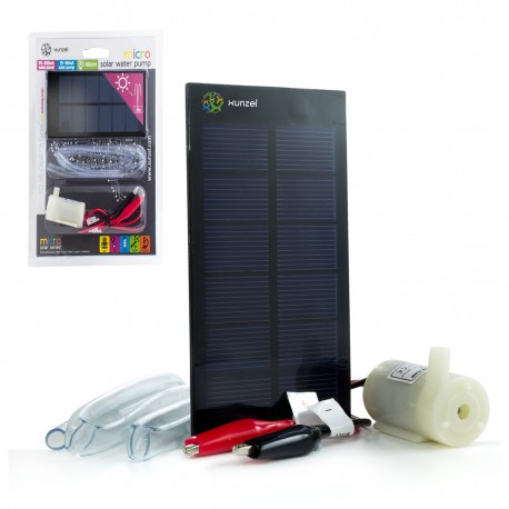 Kit Micro Bomba de Agua Solar 3V 250mA 0.75W MICROSOLAR™ XUNZEL™