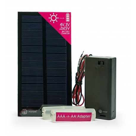 Cargador de pilas 2x AA y AAA Solar 250mA 0.75W MICROSOLAR XUNZEL