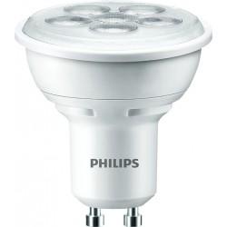 Lámpara tipo dicroica led luz blanca cálida 4.5W GU10 36º de apertura
