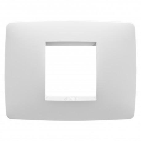 Placa modelo Chorus ONE 2 modulos color blanco