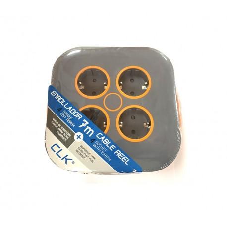 Enrollacable 7 metros 3x1.5mm color naranja CLK