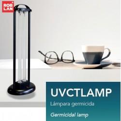 Lámpara germicida sobre mesa